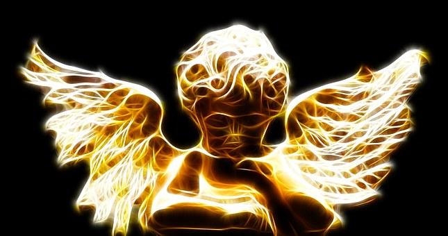 天使のシルエット
