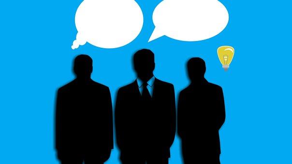 3人のビジネスマン男性のシルエット