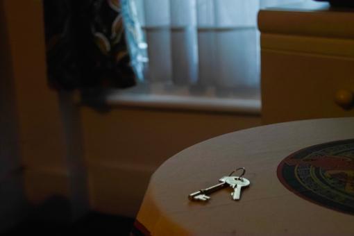 テーブルに置かれた鍵