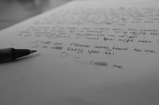 書きかけの手紙
