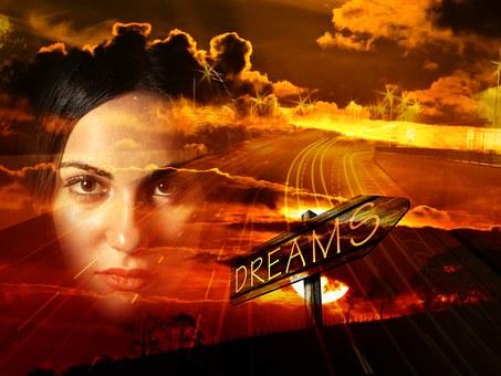 夢に向けて決意を固めた女性