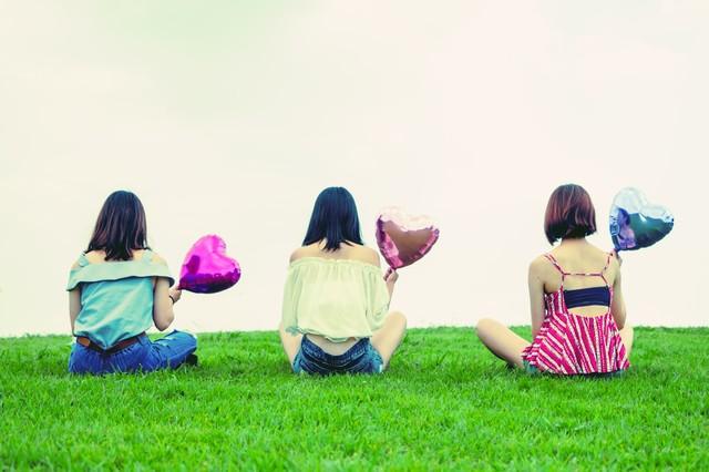 ハートを持った三人の女子