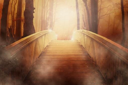 光り輝くブリッジ